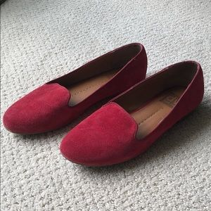 Red Suede Dolce Vita Loafers